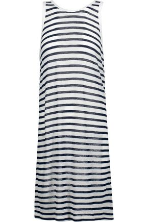 T by ALEXANDER WANG Striped stretch-jersey dress