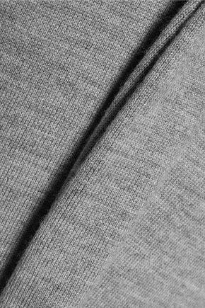 T by ALEXANDER WANG Layered pinstriped satin and wool dress