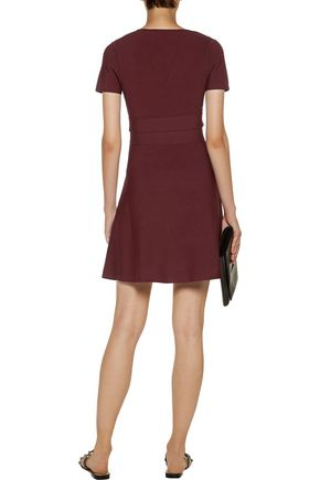 T by ALEXANDER WANG Ribbed and stretch-knit mini dress