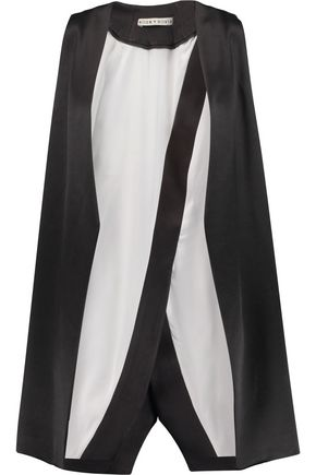 ALICE + OLIVIA Veronique satin vest