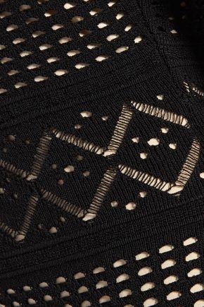 LINE Isabel stretch open-knit dress