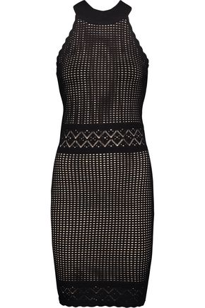 LINE Isabel stretch open-knit dress