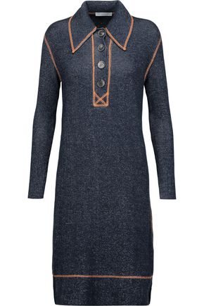 J.W.ANDERSON Embroidered ribbed merino wool dress