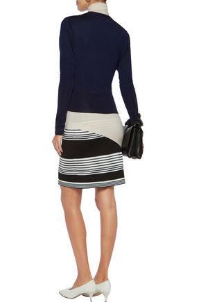 J.W.ANDERSON Layered striped merino wool turtleneck mini dress