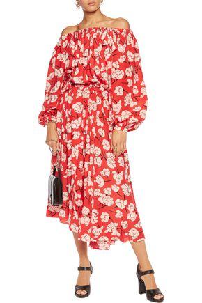 ROCHAS Floral-print silk-chiffon midi dress