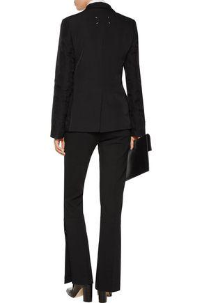 MAISON MARGIELA Silk chiffon-trimmed embellished wool-canvas blazer