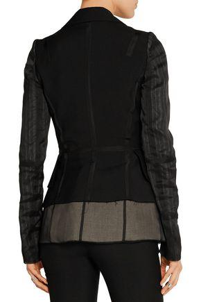 MAISON MARGIELA Silk chiffon-paneled wool and mohair-blend blazer