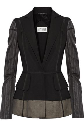 MAISON MARGIELA Silk chiffon-paneled wool and mohair-blend blazer