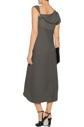 MAISON MARGIELA Pointelle-trimmed layered chiffon midi dress