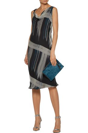MAISON MARGIELA Draped printed silk-georgette dress