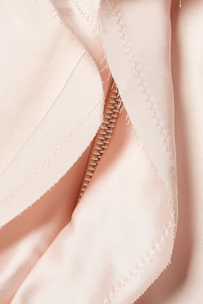 MAISON MARGIELA Ruffled satin mini dress