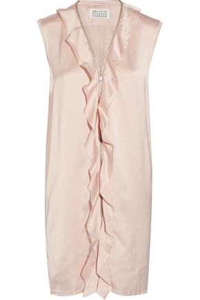 MAISON MARGIELA Ruffled satin mini dress