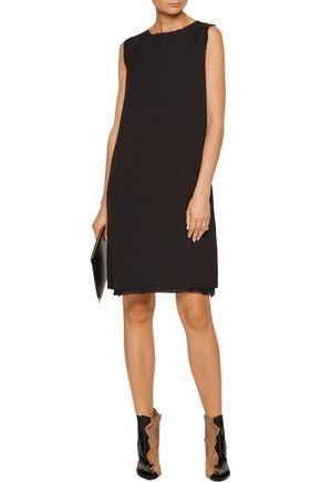 MAISON MARGIELA Frayed silk chiffon-trimmed crepe mini dress