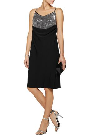 MM6 by MAISON MARGIELA Sequined crepe dress