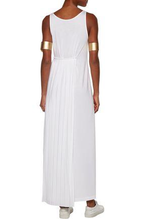 MM6 by MAISON MARGIELA Pleated stretch-jersey maxi dress