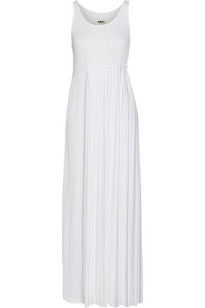 MM6 by MAISON MARGIELA Pleated stretch-jersey maxi dress