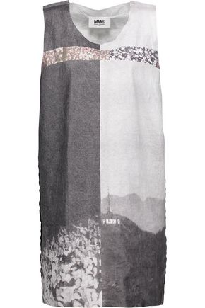 MM6 by MAISON MARGIELA Printed gauze mini dress