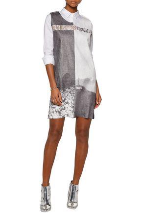 MM6 MAISON MARGIELA Printed gauze mini dress