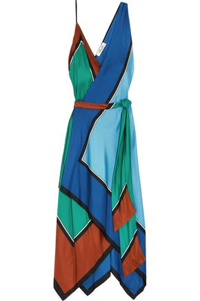 DIANE VON FURSTENBERG Asymmetric printed silk maxi dress