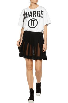 MOSCHINO Printed cotton and silk mini dress