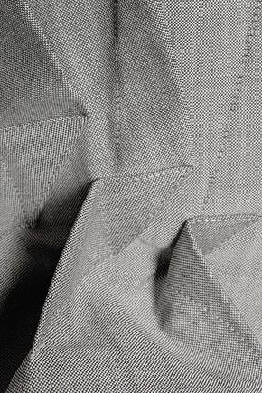 ANTONIO BERARDI Pleated wool and mohair-blend peplum jacket