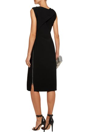 ANTONIO BERARDI Draped crepe midi dress