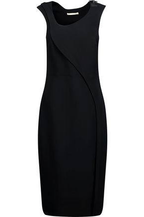 ANTONIO BERARDI Embellished paneled crepe dress