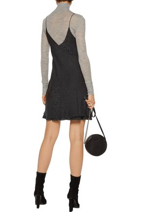 RTA Amelie leopard-print silk mini dress