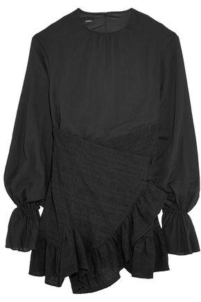 GOEN.J Wrap-effect cotton mini dress