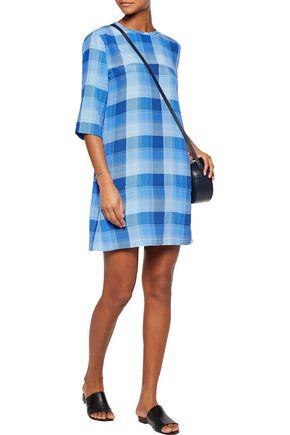EQUIPMENT Aubrey checked washed-silk dress