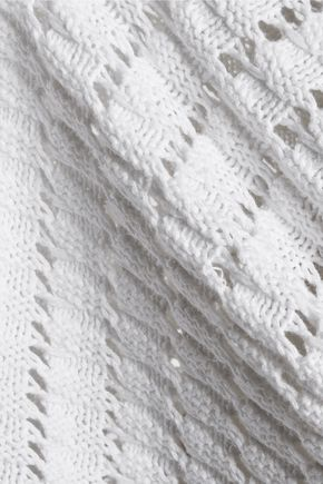 ISABEL MARANT ÉTOILE Hariett open-knit linen and cotton-blend mini dress