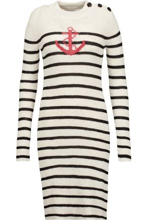 ISABEL MARANT ÉTOILE Earl striped intarsia-knit dress