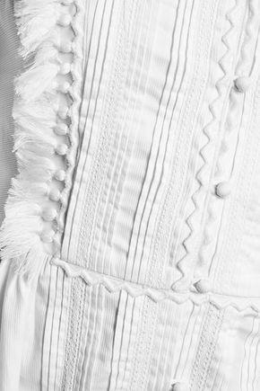 TALITHA Anthea tasseled pintucked cotton mini dress
