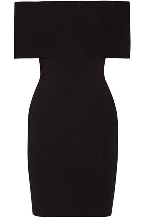 ROSETTA GETTY Off-the-shoulder stretch-jersey mini dress