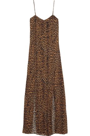 VIX Dany leopard-print crepe coverup