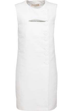 EMILIO PUCCI Cutout cotton-canvas mini dress