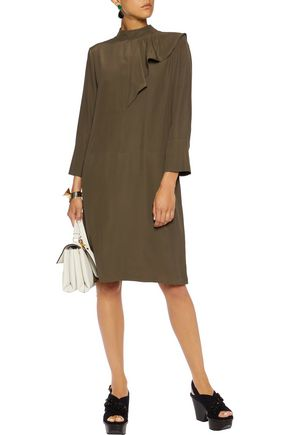 MARNI Draped crepe dress