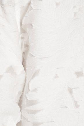 EQUIPMENT Esme fil coupé cotton and silk-blend voile top