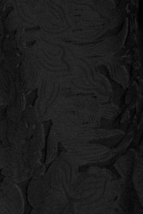 EQUIPMENT FEMME Esme fil coupé cotton and silk-blend voile top