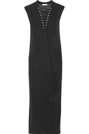 IRO Daisy lace-up linen midi dress
