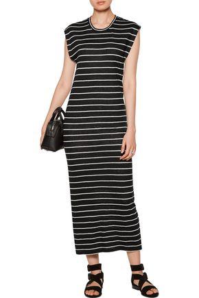 IRO Molly striped linen maxi dress