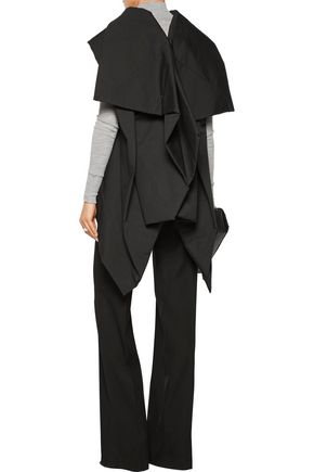 RICK OWENS Draped padded cotton jacket