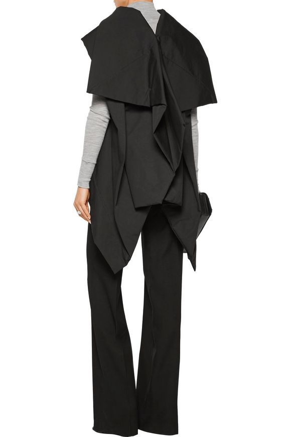 Draped padded cotton jacket | RICK OWENS | Sale up to 70% off | THE OUTNET
