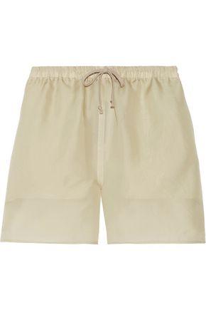 RICK OWENS Silk-organza shorts