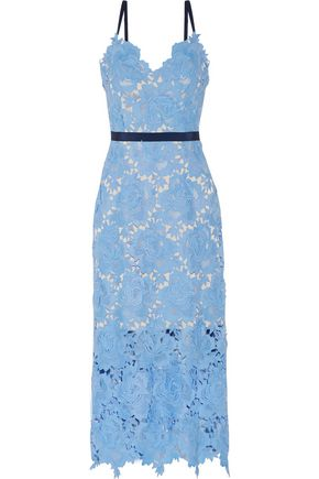 CATHERINE DEANE Frida guipure lace midi dress
