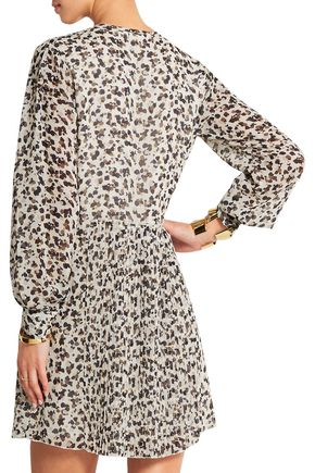 SEE BY CHLOÉ Forget Me Knot printed georgette mini dress