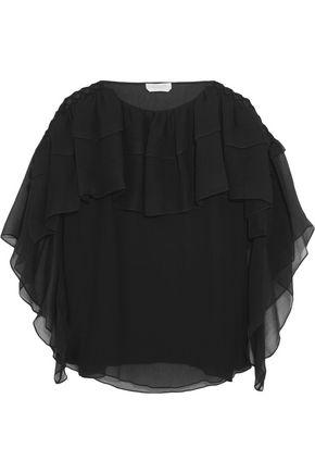 CHLOÉ Ruffled silk-chiffon top