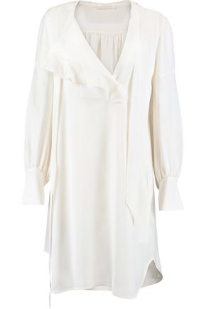 CHLOÉ Ruffled crepe shirt dress