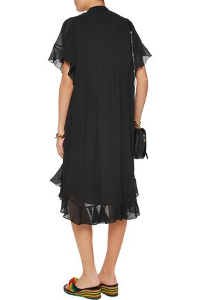 CHLOÉ Ruffled cotton-crepon dress