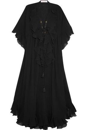 CHLOÉ Ruffled cotton-crepon dress